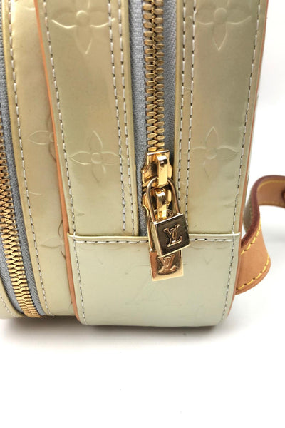 LOUIS VUITTON Light Green Monogram Vernis Murray Backpack w/ Leather Straps GHW
