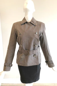 BURBERRY Brown Jacket w/ Belt