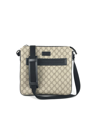 GUCCI Beige GG Supreme Coated Canvas Small Messenger Bag