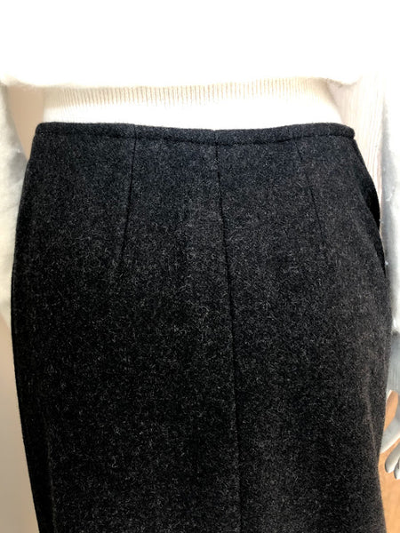 HERMES Grey Wool Skirt