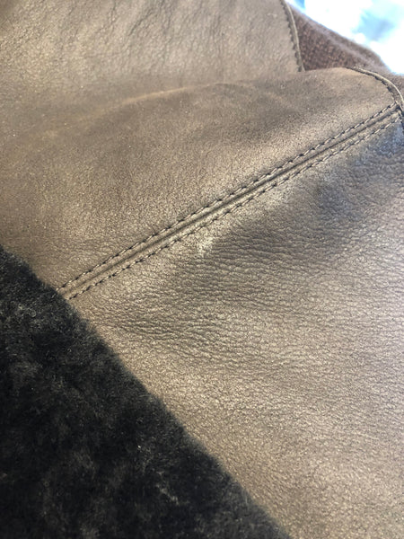 BRUNELLO CUCINELLI  Brown Cashmere/Shearling Jacket
