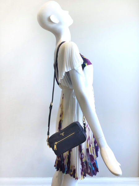 PRADA Plum Nylon Crossbody Bag