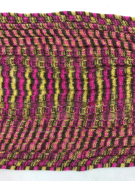 MISSONI Pink/yellow/green Scarf