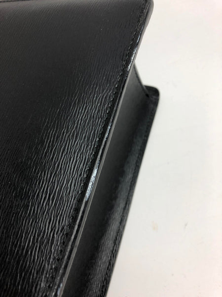 MONTBLANC Black Grained Leather Westside Double-Gusset Briefcase