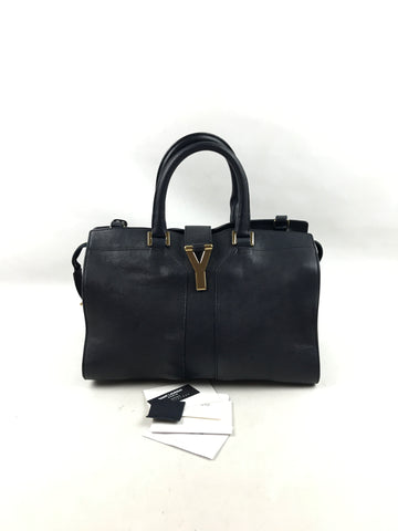 YVES SAINT LAURENT Navy Mini Chyc Bag W/GHW