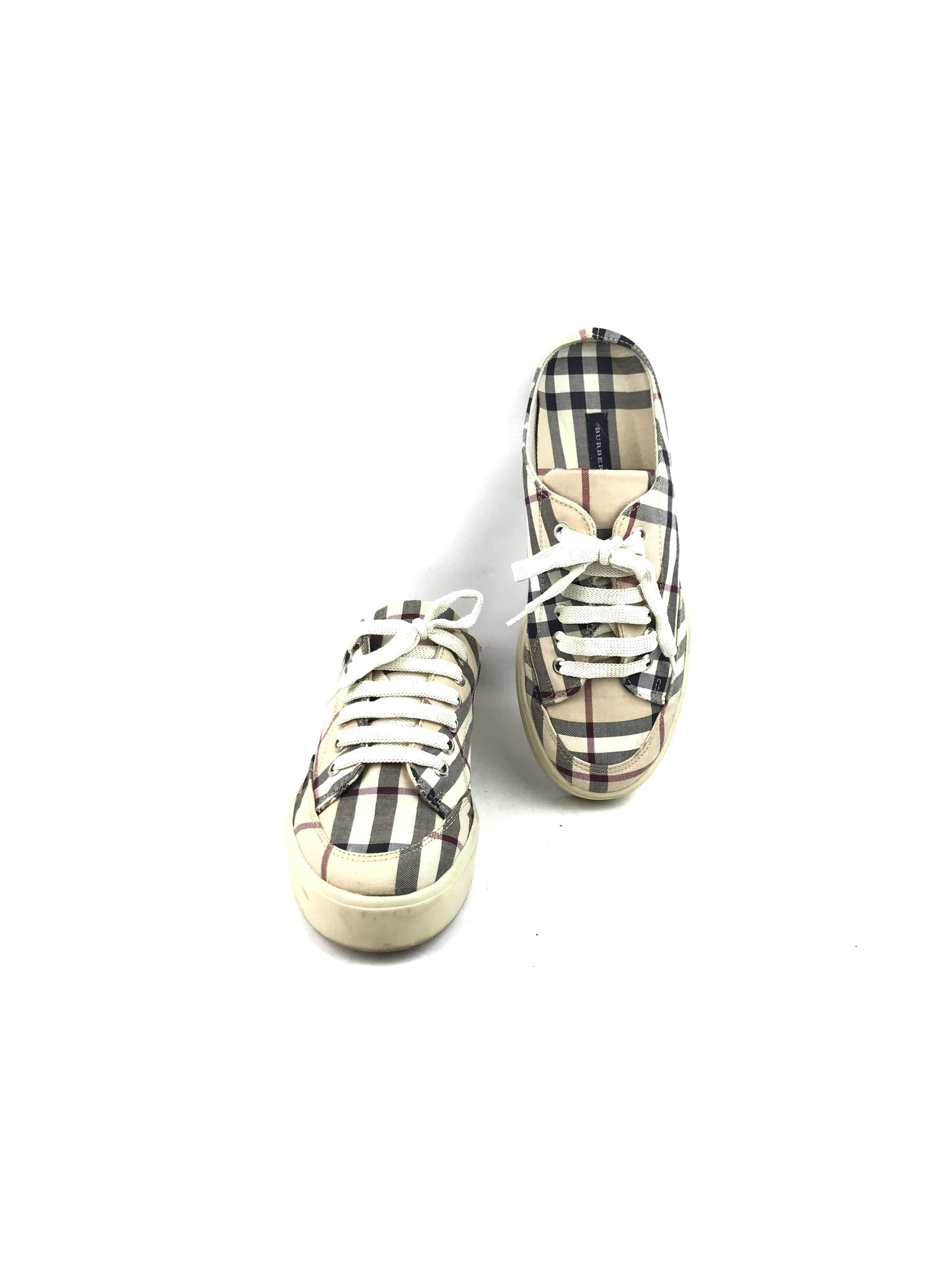 BURBERRY Nova Check Fabric Slip-on Sneakers