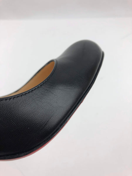 CHRISTIAN LOUBOUTIN Black Leather Simple Pump 85
