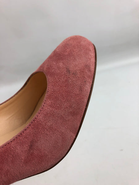 CHRISTIAN LOUBOUTIN  Pink Suede Simple Pump 85