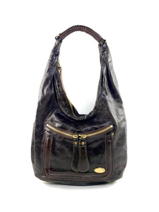 CHLOE Chocolate Leather Bay Hobo Bag
