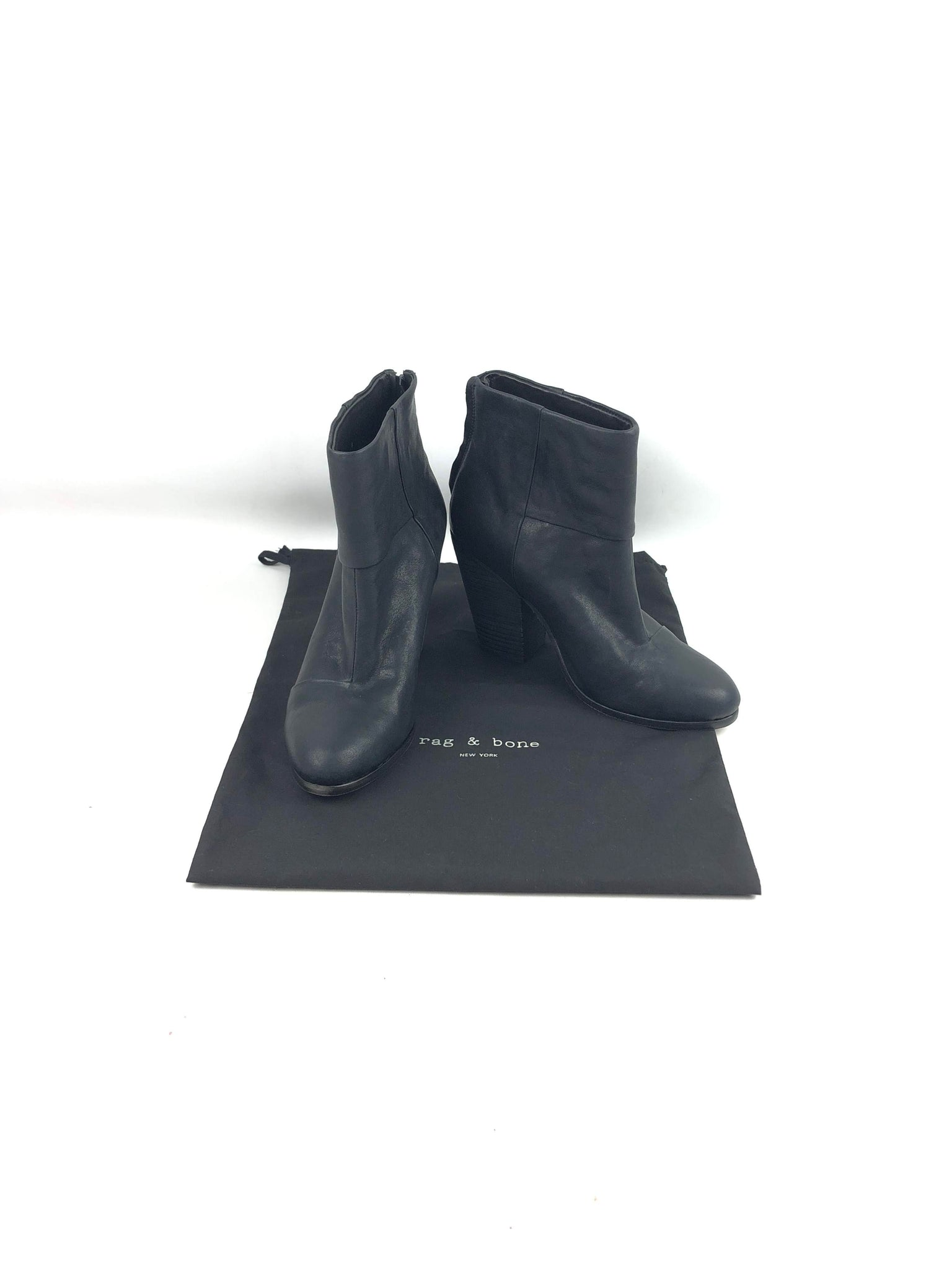 RAG & BONE Black Goatskin Booties