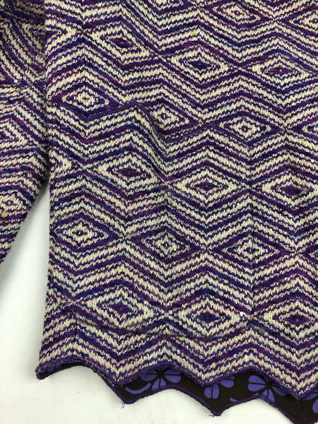 CHANEL Purple Rayon/Wool Blend Blazer