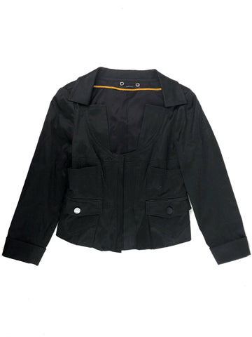 GUCCI Black Cotton Blazer