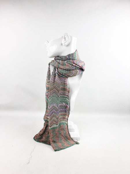 MISSONI Green/Purple/Pink  Scarf