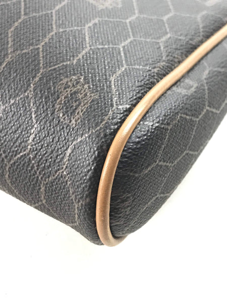 CHRISTIAN DIOR Vintage Monogram Coated Canvas Cosmetic Case