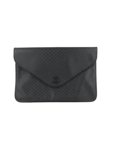 GUCCI Vintage Monogram Black Envelope Portfolio Case