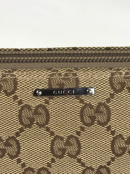GUCCI Vintage Monogram Fabric Shoulder Bag
