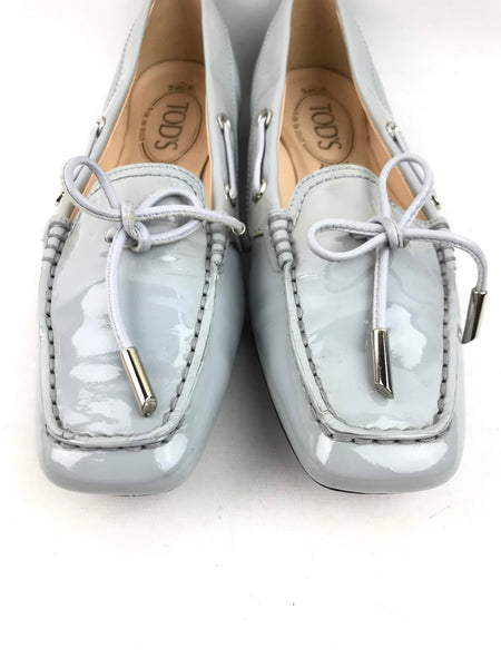 TOD'S Baby Blue Patent Leather Loafers