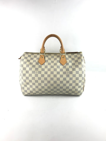 LOUIS VUITTON Damier Azur Coated Canvas Speedy 35 Bag