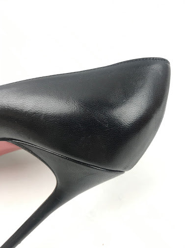 CHRISTIAN LOUBOUTIN Black Smooth Leather So Kate Pumps