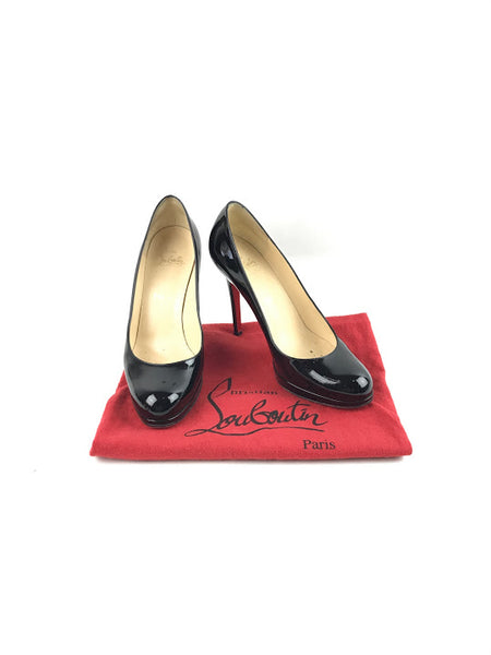 CHRISTIAN LOUBOUTIN Black Patent Simple Pumps