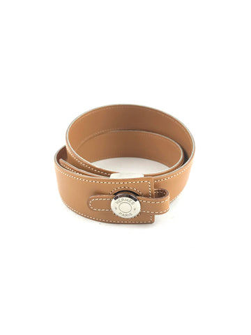 HERMES Camel Smooth Leather Belt