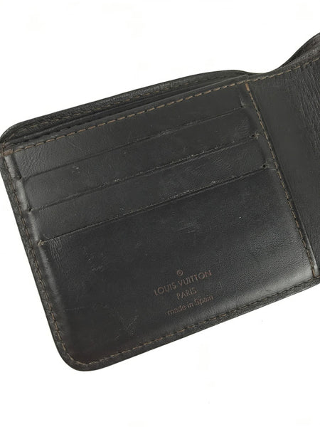 LOUIS VUITTON Brown Taiga Leather Bi-Fold Wallet