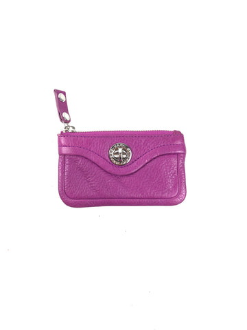 MARC BY MARC JACOBS Purple Mini Zip Pouch With Key Ring