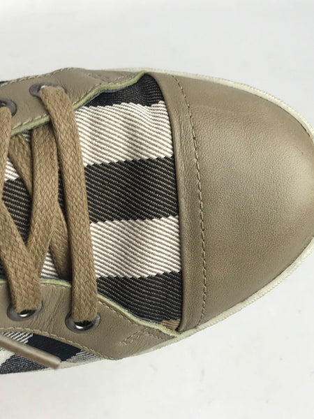 BURBERRY House Check Canvas/Leather Sneakers