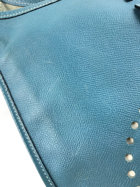 "HERMES ""Blue Jeans"" Epson Leather Evelyne GM W/GHW"