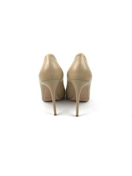JIMMY CHOO Beige Smooth Leather Pumps