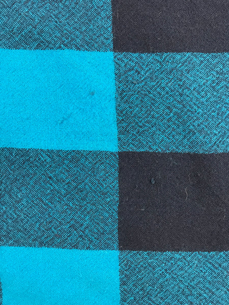 BURBERRY Blue House-Check Wool Check Scarf