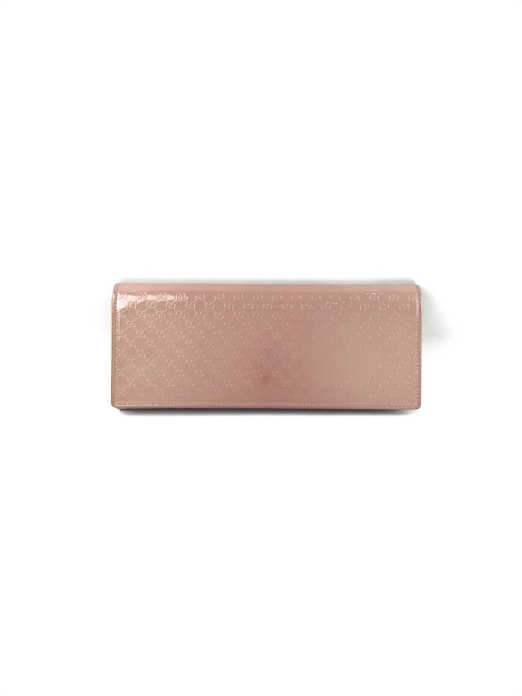 GUCCI Patent Nude Guccissima Leather Clutch