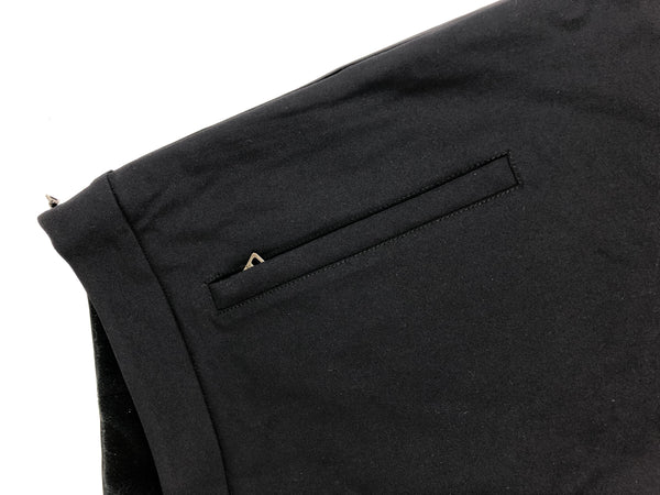 PRADA Black Nylon Knee Length Skirt
