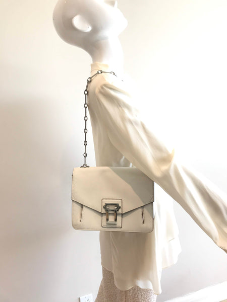 PROENZA SCHOULER White Leather Hava Crossbody Bag w/SHW