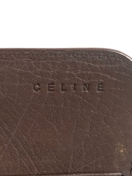 Celine Brown Leather Continental Wallet