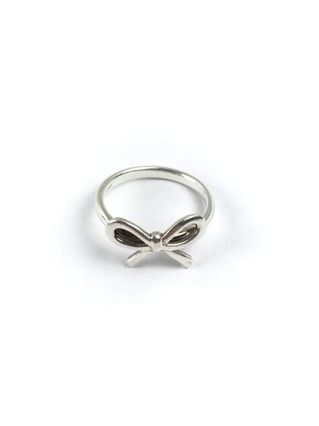 TIFFANY & CO. Tiffany Bow Sterling Silver Ring