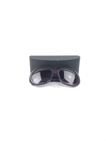 Prada Purple Acetate  Rounded Frame Sunglasses
