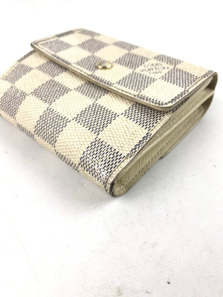 LOUIS VUITTON Damier Azur Trifold Wallet