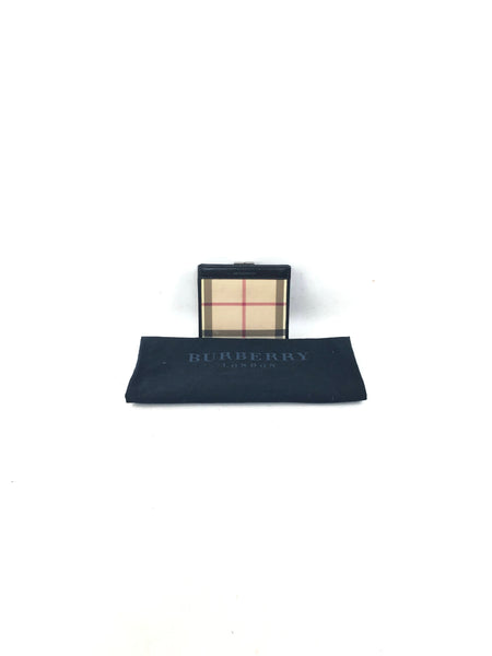 Burberry Coated Canvas Hay Market Wallet w/ SHW
