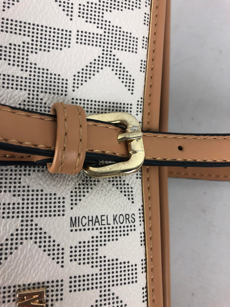 MICHAEL KORS White/Beige Extra Large Tote