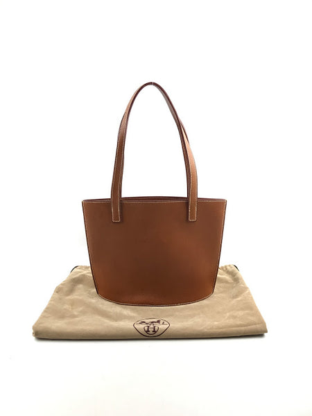 HERMES Barenia Natural Leather Double Sens Small Tote