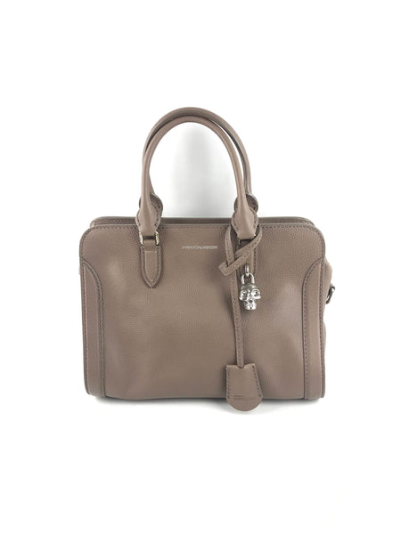 ALEXANDER MCQUEEN Toffee Grained Leather Top Handle Bag