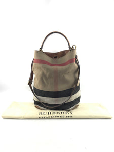 Burberry Nova Check Canvas and leather Susanna bucket bag w/AGHW