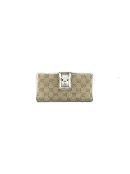 GUCCI Monogram GG Canvas Bifold Wallet