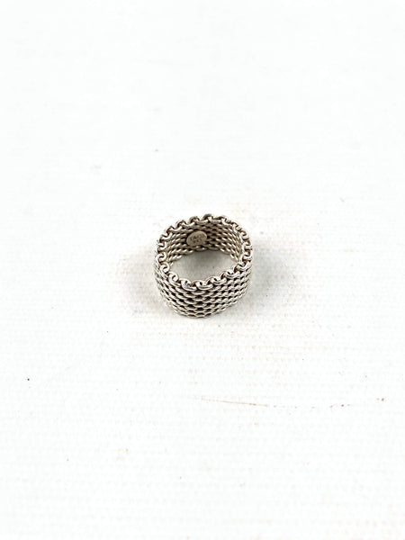TIFFANY & CO. Sterling Silver Somerset Mesh Ring