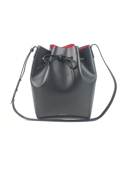 MANSUR GAVRIEL Black/Flamma Smooth Leather Bucket Bag