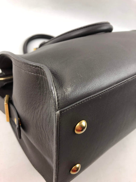 SAINT  LAURENT Dark Smog Smooth Leather chYc Bag