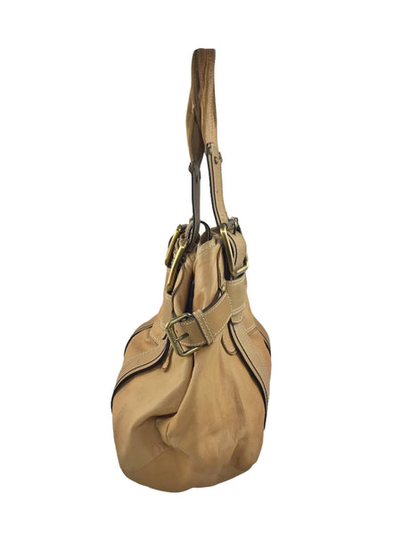 CoSTUME NATIONAL Tan Leather Belt Detailed Shoulder Bag