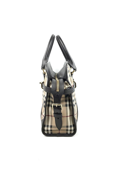 BURBERRY Nova Check Canvas Alchester Tote