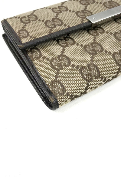 GUCCI GG Monogram Canvas Continental Wallet